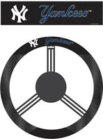 New York Yankees Steering Wheel Cover MLB Baseball Team Logo Poly Mesh