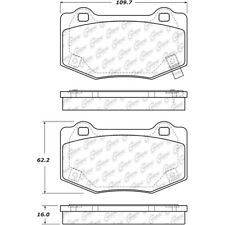 Disc Brake Pad Set fits 2015-2019 Ford Mustang  CENTRIC PARTS