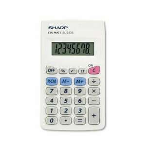 Sharp® EL233SB Pocket Calculator, 8-Digit LCD 074000017054