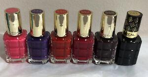 L'Oreal Color Riche L'huile Oil Infused NAIL POLISH Varnish 5 Shades + Top Coat