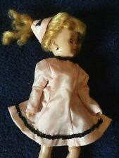 Vintage 50s Mommy Made Pink Taffeta Skating Doll Dress Hat~Toni~Tiny Teen~Jill