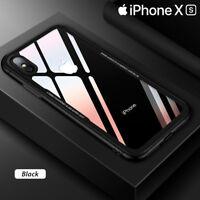 Coque Etui Cover en Verre Trempé Luxe ultra mince Premium iPhone XS XR XS MAX
