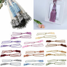 1 Pair Tassel Beaded Tiebacks Rope Bedroom Window Curtain Fringe Tie Home Decor