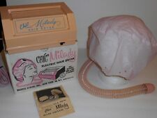 Mid-Century Chic Milady Electric Hair Dryer W/ Washable Hood & Hose Works Clean