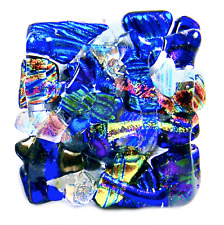 Cabinet Knobs Drawer Pulls DICHROIC Fused Glass Mosaic Shards Kitchen Bathroom
