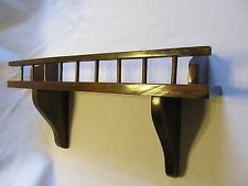 Beautiful Dark Pine  Wooden Plate Saucer Wall Display Shelf Rack