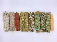10X Sage Smudge Stick Kit: White, Blue, Dragons Blood, Cedar, Lavender, Palo Sa.