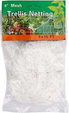 5 x 15Ft Trellis Netting, Heavy-Duty Polyester Plant Trellis Netting, 1