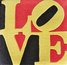 """ROBERT INDIANA """"Liebe"""" LOVE Multiple wool Numbered Edition signed COA 30""""x 30"""""""