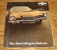 1971 Chevrolet Camaro Sales Brochure 71 Chevy SS RS Z28 Sport Coupe