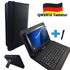 Deutsche Qwertz Tastatur Hülle Samsung Galaxy Tab Active T365 Schwarz 8 Zoll