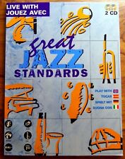 GREAT JAZZ STANDARDS - PARTITIONS + 2 CD D'ACCOMPAGNEMENT - MULTILINGUE