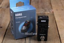 Korg PB01MINI Pitchblack Mini Pedal Tuner Electric and Bass Guitar Effects Pedal