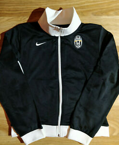 Nike FC Juventus Womens Soccer Track Jacket Football Sweatshirt Black White