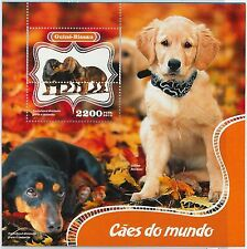 GUINEA BISSAU - ERROR, 2014 MISSPERF SHEET: DOGS, PETS, ANIMALS