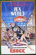 SEX WORLD Sci-Fi Fantasy SEXY AMBER HUNT 1979 Rare Movie Pressbook RATED X Adult