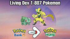 Complete Shiny PokeDex Gen 1-7 807 Pokemon 6IVs Home 100%Legit! not Sword Shield