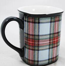 Tartan Plaid  - Red Green & Black Coffee Mug - Scottish Plaid
