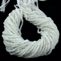 """Rainbow Moonstone Natural Gemstone Rondelle Faceted Beads 3-3.5mm 5 Strands 13"""""""
