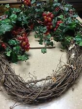 Twig Wreath with Cranberry's and Silk IVY  from Decorator Warehouse