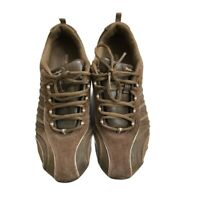 Skechers Women's Shoes Size 9 Brown Toffee Leather Sneakers Lace up