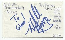 Michelle Trachtenberg Signed 3x5 Index Card Autographed Signature Buffy