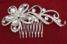 Bridal Hair Wedding Comb Diamante Crystal Vintage Slide Clip Tiara Slide Just Fo