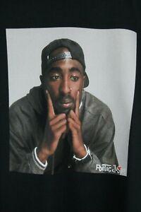 TUPAC 2PAC T Shirt OFFICIAL LICENSED Sz XL POETIC JUSTICE Black Rap Hip Hop