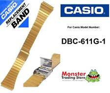REPLACEMENT CASIO WATCH BAND ORIGINAL ONLY FITS: DBC-611G-1A