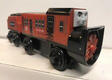 Thomas & Friends Wooden Railway Dustin Rotary Plow Engine With Tender