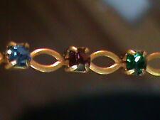 15 Feet Swarovski Multi Color Stones Rhinestone Chain w/ Oval Links NICE !!!