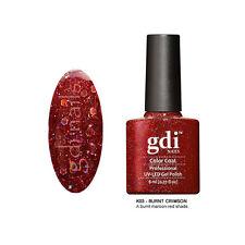 "gdi nails "" Burnt Crimson GDIKK03 ""Diamond Glitters UV LED Salon Nail Gel Polish"
