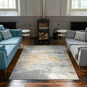 Yellow Grey Natural Rugs for Living Room Giant Rugs Soft Bohemian Stylish Rugs