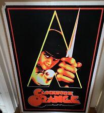 "Rare Vintage 2000 BlackLight Velvet Orig Poster #5050 ""Clockwork Orange"" Movie"