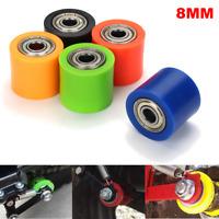 "8mm/10mm Chain Roller Slider Tensioner Wheel Guide 1.1""x 1.26"" For Pit Dirt"