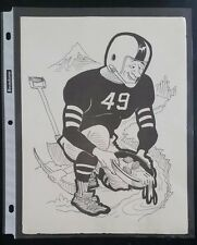 "VINTAGE FOOTBALL NFL Cartoon Print SAN FRANCISCO 49ERS 8""X10"" Original Print"