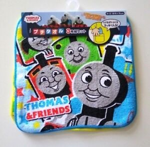 3pc Japan Thomas & friends  mini size hand towel handkerchief kid 100% cotton
