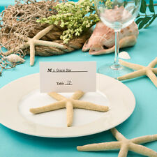Set of 6 Resin Starfish Place Card Holders Beach Ocean Theme Wedding Favors