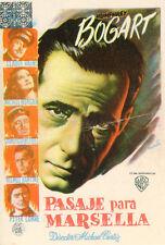 HUMPREY BOGART PASSAGE TO MARSEILLE 1944 SPANISH HERALD VINTAGE PROSPECTUS