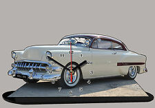 MODEL CARS, CHEVROLET BEL AIR -01  with Clock 11,8x 7,8 inches, Rally and alumin