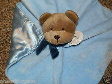 Carter'S Security Blanket Bear Blue I Love Mom Child Of Mine Rattle Brown Head