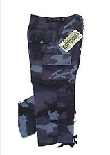 Pantalon Treillis Enfant Camouflage Urban Bleu 6 ans