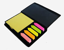 MEMO STICKY NOTES IN LEATHER CASE