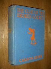 Nancy Drew The Clue of the Broken Locket by Carolyn Keene First Edition 1934