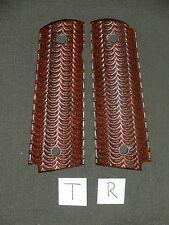 T 1911 Grips Wave Red Dymondwood 1911A1 Colt Kimber Springfield Micarta