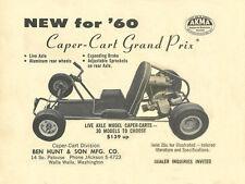 "Vintage & Very Rare ""New for '60"" 1960 Caper Cart Grand Prix Go-Kart Ad"
