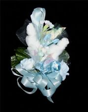 Baby Shower Corsage With  Big Blue Pacifier Handmade
