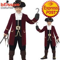 CK1009 Deluxe Captain Pirate Boys Costume Hook Buccaneer Kids Fancy Book Week