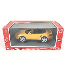 Voiture Porsche 911 Turbo Cabriolet 1/18 Jaune Yellow / Mondo Motors