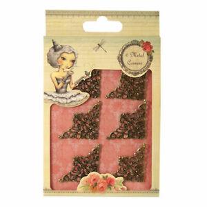 Santoro - Mirabelle Collection - Metal corners - Scrapbooking, card making.